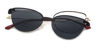 YC33052 rabia Cateye red glasses