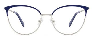 YJ0032 enid Cateye blue glasses