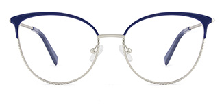 YJ0032 enid Cateye black glasses