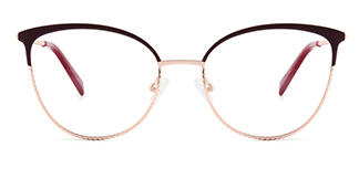 YJ0032 enid Cateye red glasses
