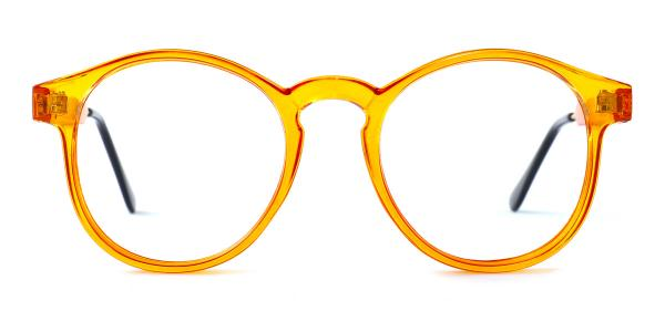 Z3185 Yadyra Round orange glasses
