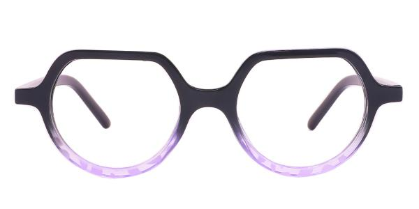 Z3304 Hellon Geometric purple glasses