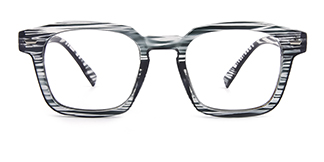 Z3351 Josephine Rectangle black glasses