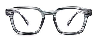 Z3351 Josephine Rectangle black glasses