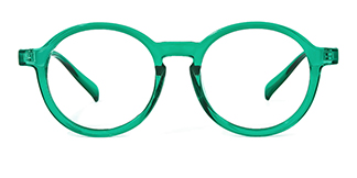 Z3389 Ady Round green glasses