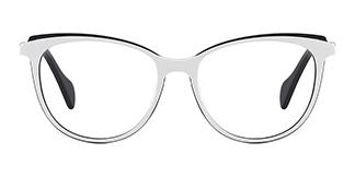 Z506 Quanda Oval white glasses