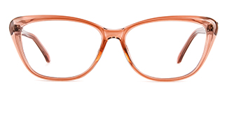 ZY701 Amie Cateye brown glasses