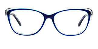 ZY701 Amie Cateye blue glasses