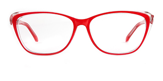 ZY701 Amie Cateye red glasses